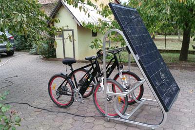 panneau photovoltaique velo