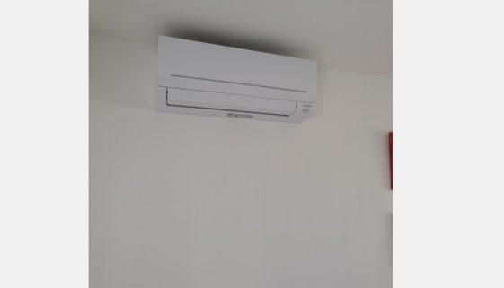 Installation d'une pompe à chaleur Mitsubishi à Verneuil-l'Étang 94140 - 2